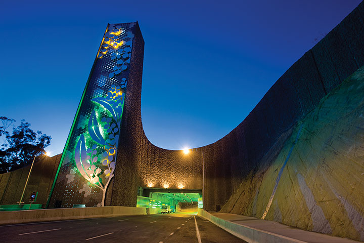 EastLink-Tunnel-stack-at-night-with-lighting-A